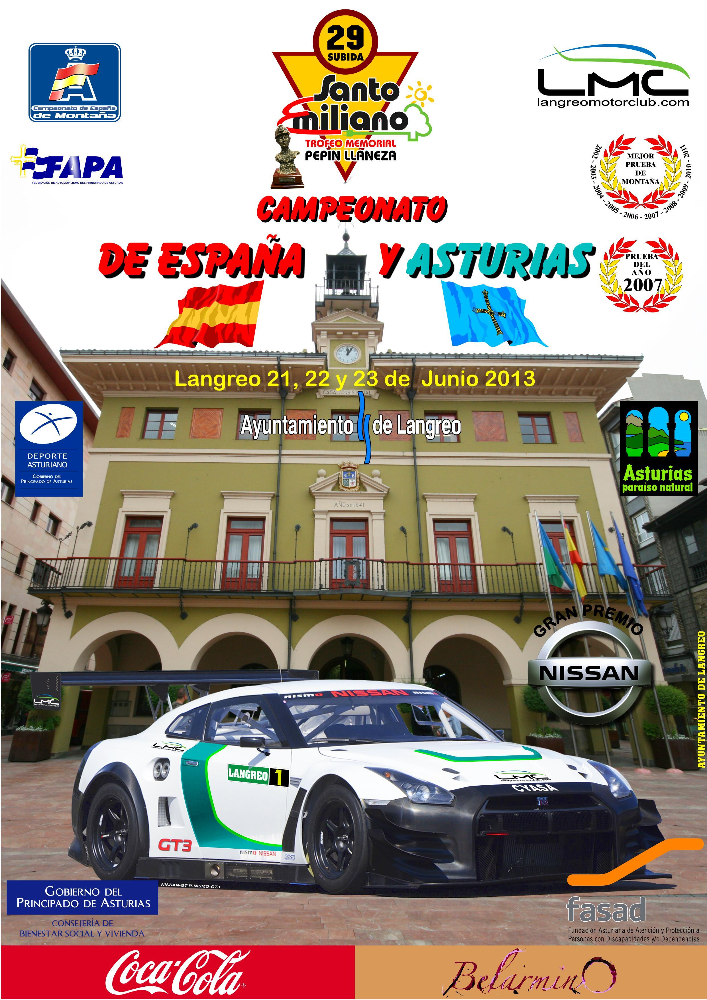 29ª Subida a Santo Emiliano (22 y 23 de junio) Cartel